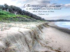The Lord Is Good, King James Bible, Scripture Verses, Good Things, Beach, Water, Outdoor, Gripe Water