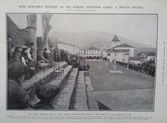 1906 PRINT BASQUE TEAMS PLAYING PELOTA AT SARE-HAVOC IN PAPEETE SOCIETY ISLANDS | eBay