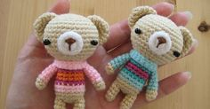 Sweater bearies Materials: - Yarn scraps in various colors of your choice ( body color, muzzle color, sweater color, two different sweate...