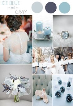 ice blue and gray winter wedding color ideas 2015