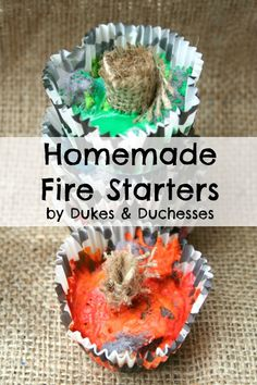 homemade fire starters recipe {perfect for camping or a gift idea}
