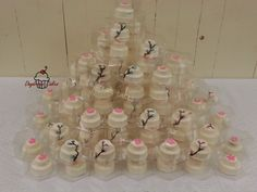 Mini wedding cakes for wedding favors..chocolate covered oreos