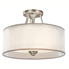 Kichler Lighting Lacey Collection 3-light Antique Pewter Semi-Flush Mount - 18932364 - Overstock.com Shopping - Big Discounts on Kichler Lighting Flush Mounts
