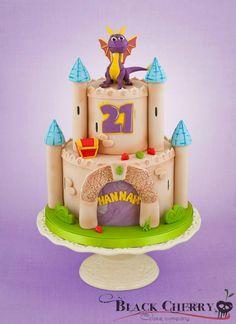 Spyro the Dragon Cake bahahaha so cute