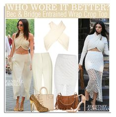 """Who Wore It Better? Kendall Jenner or Kourtney Kardashian?"" by nfabjoy ❤ liked on Polyvore featuring Vika Gazinskaya, Bec & Bridge, Valentino, Yves Saint Laurent, Tom Ford, Stuart Weitzman, women's clothing, women, female and woman"