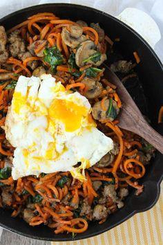 Spiralizer Sweet Potato Breakfast Hash