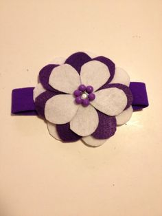 Infant Toddler Girls Purple Flower Headpiece Hairpiece Hairbow Hair Accessories on Etsy, $7.00
