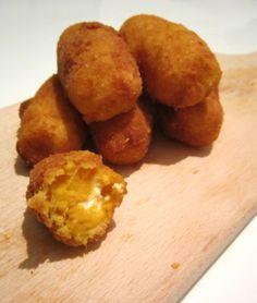Lekkere variatie met zoete aardappel: kroketjes van zoete aardappel met geitenkaas!