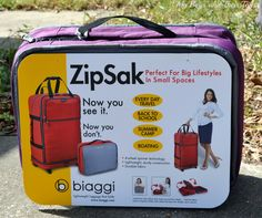 "Biaggi Zipsak goes from carrying bag to 27"" suitcase! Great space saver! #review"