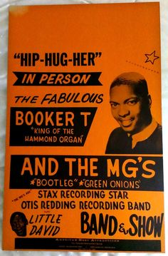 Vintage original 60's Booker T. & the MG's boxing style concert poster! motown stax volt muscle shoals soul r&b hammond organ rock roll rare black americana