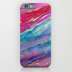 AGATE MAGIC Red Aqua Pink Lavender Girly iPhone 4 by EbiEmporium #cellphone #case #iphonecase #iphone4 #iphone5 #iphone5c #iphone5s #iphone6 #samsunggalaxy #samsung #gs4 #gs5 #red #aqua #pink #lavender #girly #marble #watercolor #agate #geode #swirls #modern #tech #device #abstract #ebiemporium #art