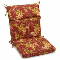 Just for You Passion Indoor/Outdoor Adirondack Chair Cushion by Blazing Needles Adirondack Chair Cushions, Outdoor Lounge Chair Cushions, Wicker Chairs, Patio Chairs, Outdoor Chairs, Indoor Outdoor, Outdoor Fabric, Outdoor Seating, Outdoor Furniture