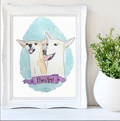 No Longer Taking Christmas Orders. CUSTOM PAINTINGS WILL SHIP IN JANUARY. This is a one of a kind, watercolor custom pet portrait. Whether its for your own pet or as a gift for a dog lover, this painting is a great way to memorialize the furry friends in your life. I have created
