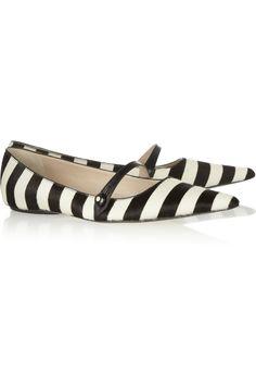 Marc Jacobs | Striped calf hair flats | NET-A-PORTER.COM