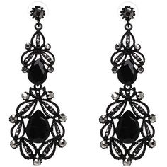 Hollow Out Faux Crystal Earring ($18) ❤ liked on Polyvore featuring jewelry, earrings, artificial earrings, crystal stone jewelry, crystal jewellery, imitation jewelry and crystal earrings