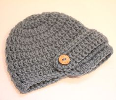 Blue Brimmed Crochet Hat 03 Months by RepeatCrafterMe on Etsy, $12.00