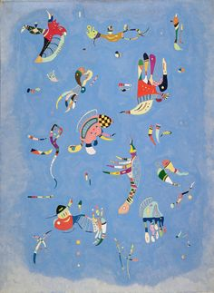 Wassily Kandinsky. Sky Blue. 1940. Oil on canvas. 100 x 73 cm. Musée National d'Art Moderne, Centre Georges Pompidou, Paris.