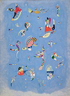 Wassily Kandinsky. Sky Blue. 1940. Oil on canvas. 100 x 73 cm. Musée National d'Art Moderne, Centre Georges Pompidou, Paris.