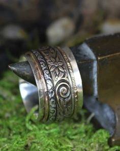 Midget Gypsy Spinner Ring by charmedlifedesigns on Etsy, $110.00