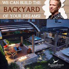 Bring the expertise of world class designer Paul Lafrance to your backyard!  ⚒️ Decks, patios, pergolas, custom furniture and interior spaces in Toronto and surrounding area. ⚒️ Learn more about his work and book your backyard transformation by visiting the website. Custom Furniture, Dreaming Of You, Pergola, Bring It On, Deck, Backyard, Canning, Building, Interior