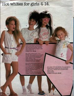 Kids fashion catalog, 1985