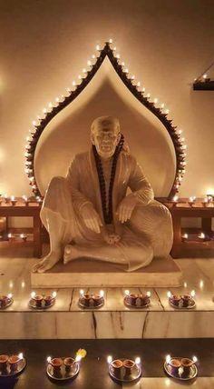 Sai Baba of Shirdi blessed once again ☺ xx om sai ram xx Sai Baba Pictures, God Pictures, Diwali Pictures, Shirdi Sai Baba Wallpapers, Sai Baba Hd Wallpaper, Saints Of India, Sai Baba Quotes, Swami Samarth, Baba Image