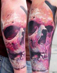 Skull 3D Tattoo motive   #Tattoo, #Tattooed, #Tattoos