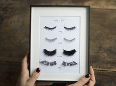 DIY faux eyelash art