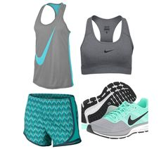 Athletic Outfit all items can be found at dick's sporting goods or nike