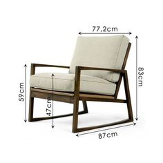 Solid Wood Armchair with Removable Upholstery Sofia Welded Furniture, Iron Furniture, Steel Furniture, Modern Furniture, Furniture Design, Luxury Furniture, Diy Sofa, Wood Arm Chair, Chair Design