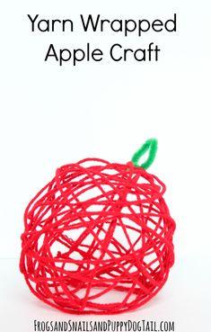 Yarn Wrapped Apple Craft - FSPDT