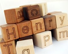 Personalized wooden blocks