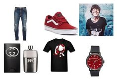 """""""The night is still young"""" by pepper2good4u on Polyvore featuring Sykes, Nudie Jeans Co., Vans, Ted Baker, Gucci, men's fashion and menswear"""