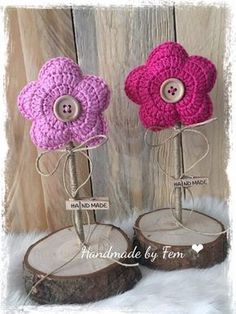 Crochet Diy, Crochet Amigurumi, Crochet Motifs, Easter Crochet, Crochet Home, Love Crochet, Crochet Gifts, Crochet Stitches, Daisies