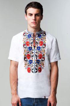 Чоловіча вишита сорочка на короткий рукав (405) Вишита сорочка на короткий  рукав - одяг d7a3225c1d6c8