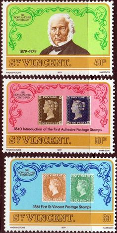 St Vincent 1979 Rowland Hill Set Fine Mint SG 574 6 Scott 545 7 Other Commonwealth Stamps here