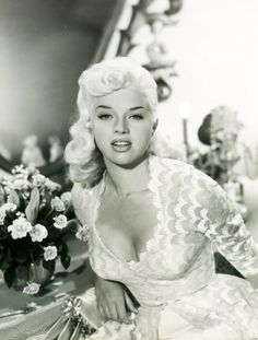 vintagechampagnefever:    Loving that Diana Dors' hair exactly matches her dress!