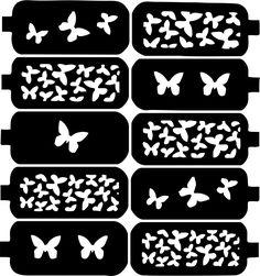 Butterfly Nail Art Vinyl Decal Sticker Stencil