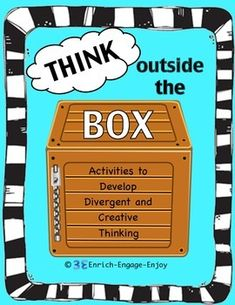 "The activities in this pack encourage ""outside of the box"" thinking with lots of laughter, creativity, and fun! A key component in many STEM activities is the ability to repurpose an item to meet a need. Creative and divergent thinking can also be developed this way."