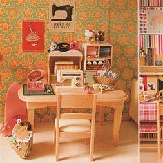 Frankie Magazine Retro Dollhouse Sewing area