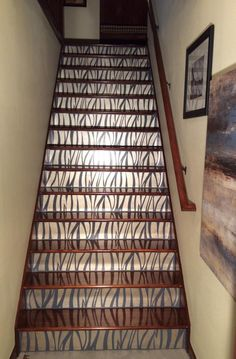 Champagne Metallic Paint on Stairs | Modern Masters Project by Lisa Schubert Dane of Faux and Sew