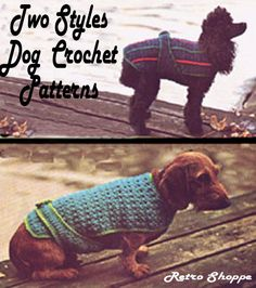 A free easy crochet dog sweater pattern for a small dog.....hilarious ...cute