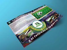 Diseño de triptico para concepto de innovación en el futbol