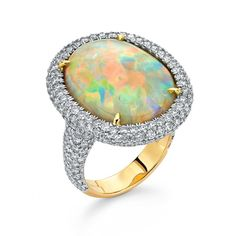 Pamela Huizenga Opal Ring of magnificent color