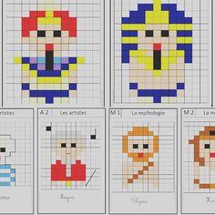 Aujourd'hui retrouvez sur le blog des petits pixel art faits maison sur le thème de l'histoire. #vismaviedinstit #pixelart #pixel #art #histoire #lartestunjeudenfant #surleblog #lesideesdeju #pretaimprimer Pixel Art Animals, Activities For Boys, Cycle 3, Kids Rugs, Math, Ms Gs, Blog, Pictures, Fictional Characters