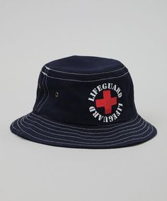Red 'Lifeguard' Bucket Hat | Daily deals for moms, babies and kids