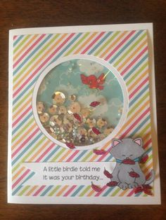 Shaker Birthday Card I created for my sister in law 2015