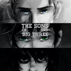 Los hijos de los tres grandes, jason grace, percy jackson, nico di angelo.