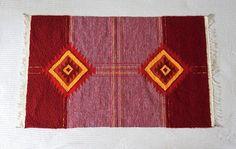 Traditional Vintage Hand Woven Bangladeshi Rug by RosesWandering