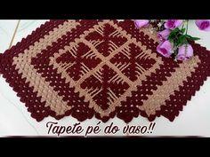 Crochet Table Mat, Bathroom Crafts, Crochet Videos, Doilies, Diy And Crafts, Crochet Patterns, Blanket, Knitting, Handmade